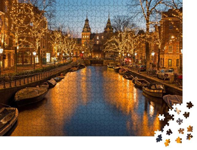 """Puzzle 1000 Teile """"Weihnachtszeit in Amsterdam"""""""