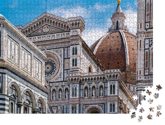 """Puzzle 1000 Teile """"Nahaufnahme der Kathedrale Santa Maria del Fiore, Florenz"""""""