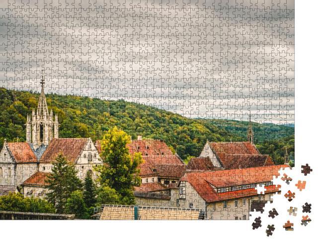 """Puzzle 1000 Teile """"Kloster Bebenhausen im herbstlichen Schönbuch"""""""