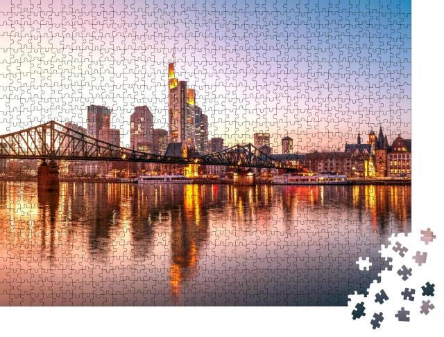 """Puzzle 1000 Teile """"Eisener Steg, Frankfurt am Main, Deutschland"""""""