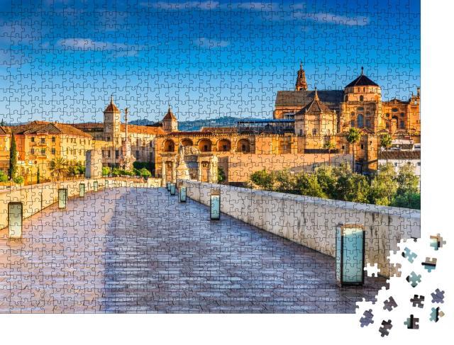 """Puzzle 1000 Teile """"Mezquita-Kathedrale und römische Brücke, Cordoba, Andalusien, Spanien"""""""