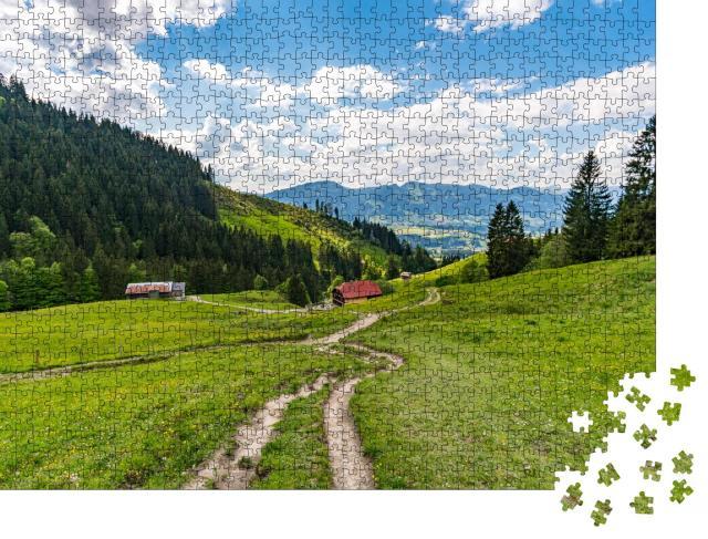 """Puzzle 1000 Teile """"Wunderschöne Allgäuer Alpen"""""""