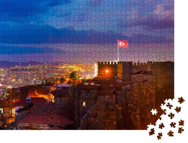 """Puzzle 1000 Teile """"Zitadelle von Ankara bei Nacht, Türkei"""""""