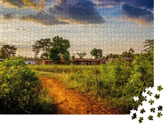 """Puzzle 1000 Teile """"Impression aus dem Mount-Elgon-Nationalpark in Uganda"""""""
