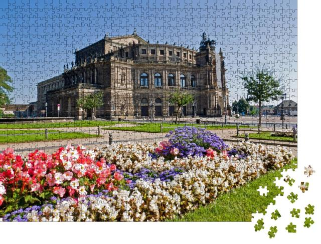 """Puzzle 1000 Teile """"Die berühmte Semperoper in Dresden, Deutschland"""""""