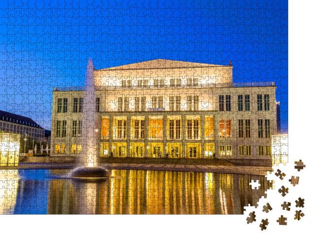 """Puzzle 1000 Teile """"Opernhaus in Leipzig, Deutschland"""""""