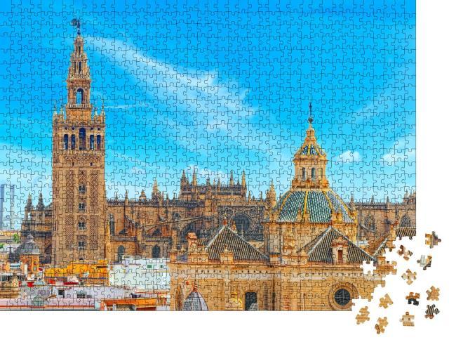 """Puzzle 1000 Teile """"Die Kathedrale von Sevilla, Spanien"""""""