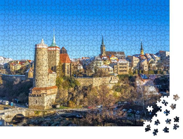 """Puzzle 1000 Teile """"Historische Stadt Bautzen in Sachsen, Deutschland"""""""