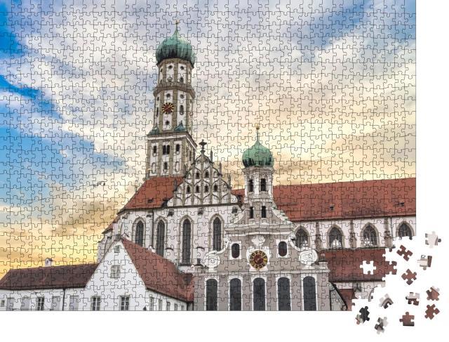"""Puzzle 1000 Teile """"Berühmte St. Ulrichskirche in Augsburg Deutschland"""""""