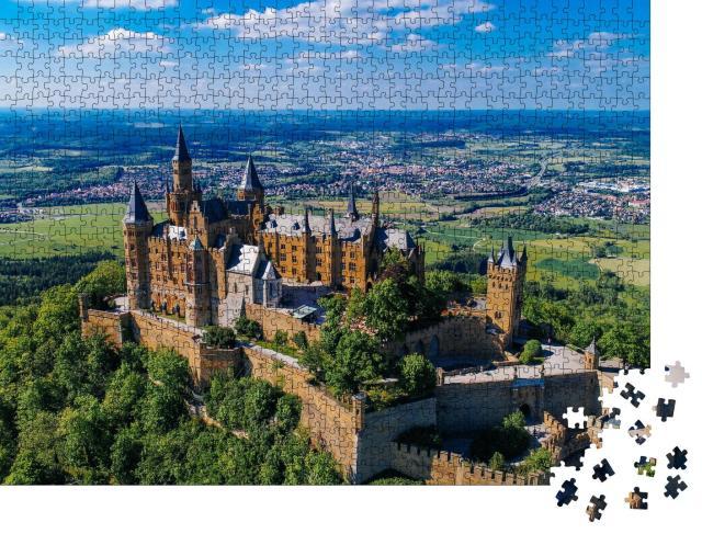 """Puzzle 1000 Teile """"Luftaufnahme der berühmten Burg Hohenzollern, Deutschland"""""""