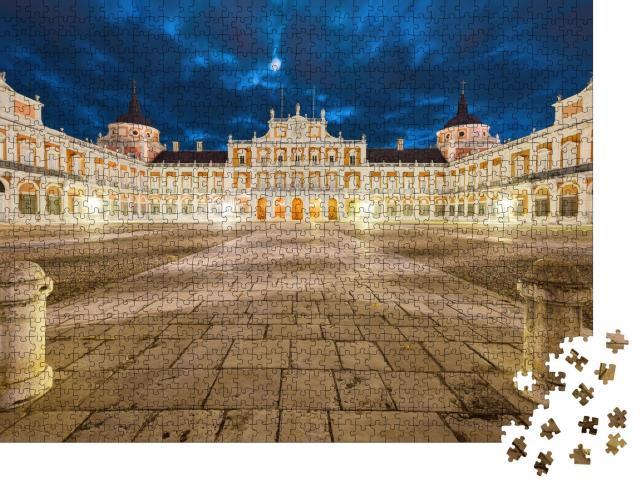 """Puzzle 1000 Teile """"Königlicher Palast von Aranjuez bei Nacht, Spanien"""""""