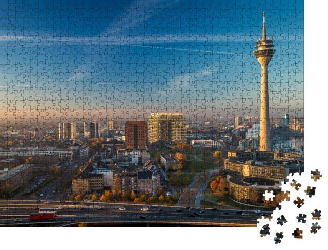 """Puzzle 1000 Teile """"Fernsehturm Düsseldorf, Deutschland"""""""