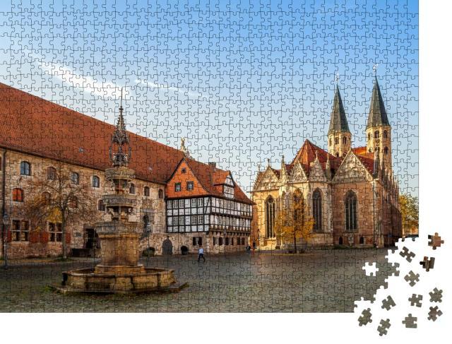 """Puzzle 1000 Teile """"Markt von Braunschweig in Deutschland"""""""