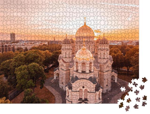 """Puzzle 1000 Teile """"Kathedrale der Geburt Christi in Riga, Lettland"""""""