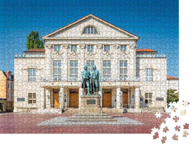 """Puzzle 1000 Teile """"Goethe-Schiller-Denkmal in Weimar, Thüringen"""""""