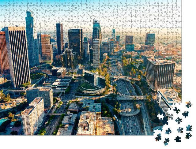 "Puzzle 1000 Teile ""Downtown Los Angeles im Sonnenuntergang"""