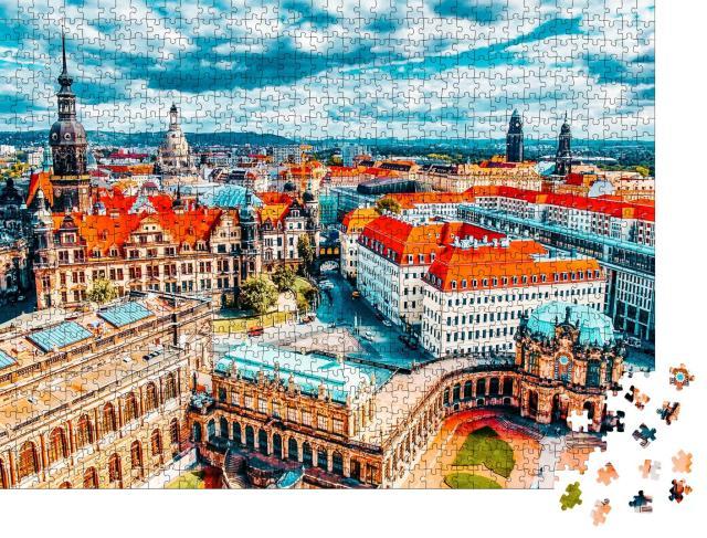 """Puzzle 1000 Teile """"Der Dresdner Zwinger, Sachsen, Deutschland"""""""