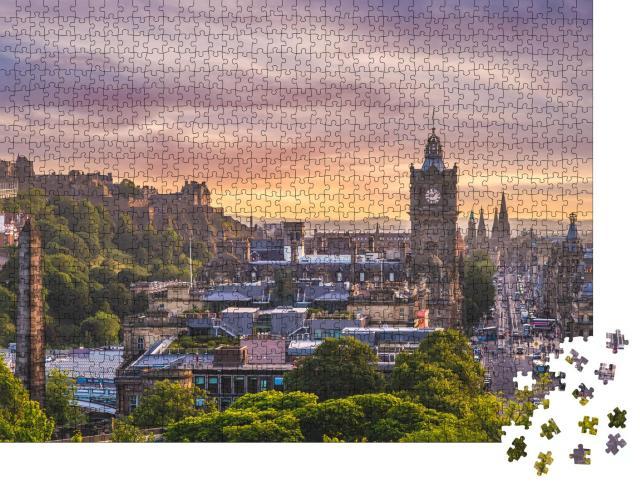 """Puzzle 1000 Teile """"Luftaufnahme von Edinburgh, Schottland"""""""