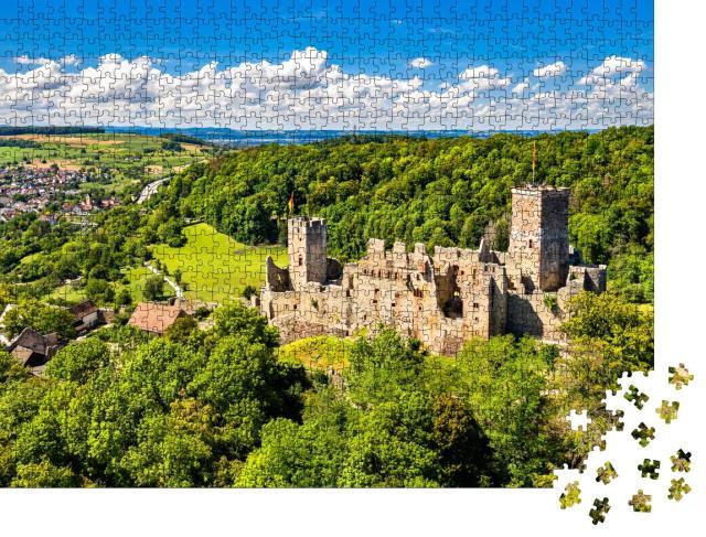 """Puzzle 1000 Teile """"Schloss Rötteln in Lörrach, Schwarzwald, Deutschland"""""""