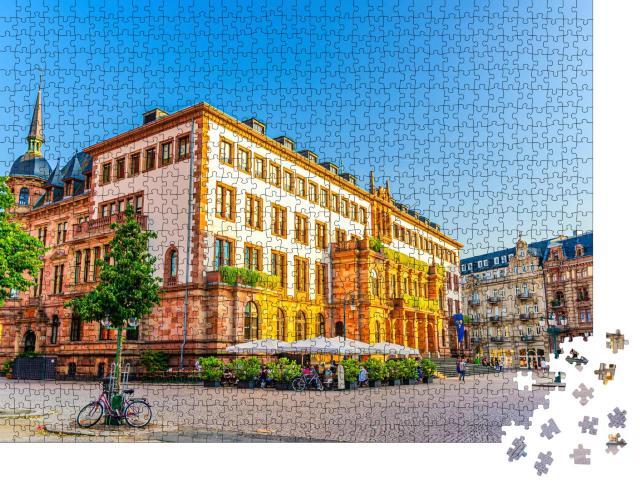 """Puzzle 1000 Teile """"Neues Rathaus auf dem Schlossplatz in Wiesbaden"""""""