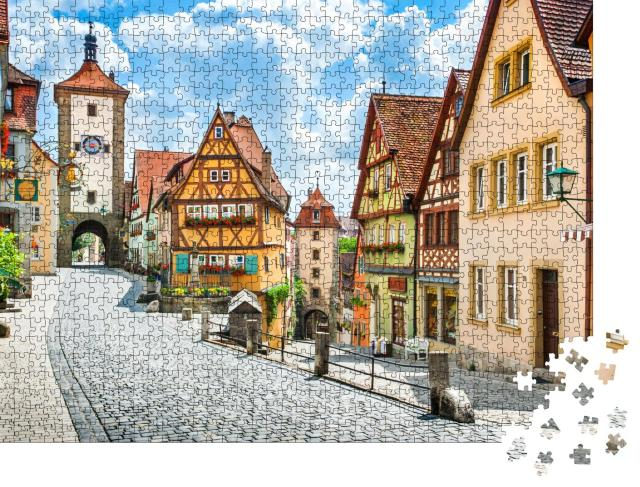 """Puzzle 1000 Teile """"Historisches Rothenburg ob der Tauber, Deutschland"""""""