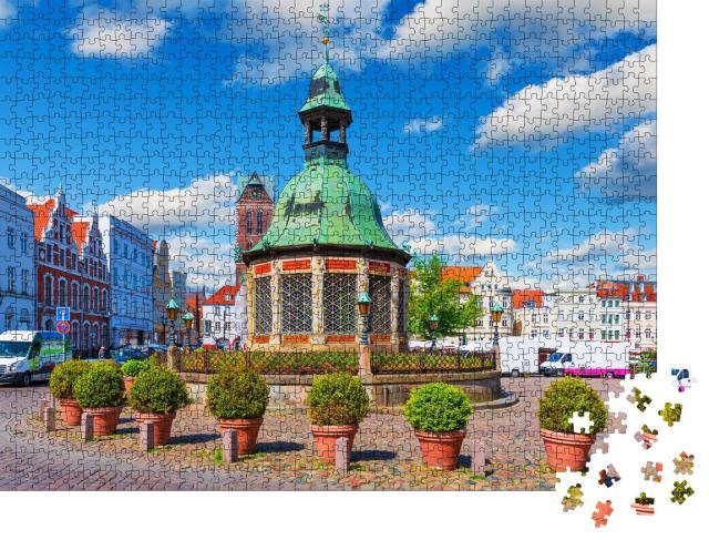 """Puzzle 1000 Teile """"Marktplatz in der Altstadt von Wismar, Deutschland"""""""
