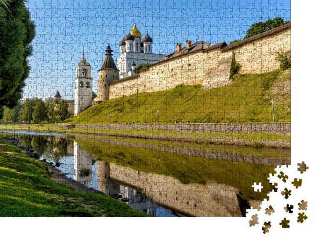 """Puzzle 1000 Teile """"Dreifaltigkeitskathedrale in Pskow, Russland"""""""