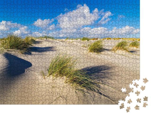 """Puzzle 1000 Teile """"Dünen an der Nordseeküste auf der Insel Amrum, Deutschland"""""""