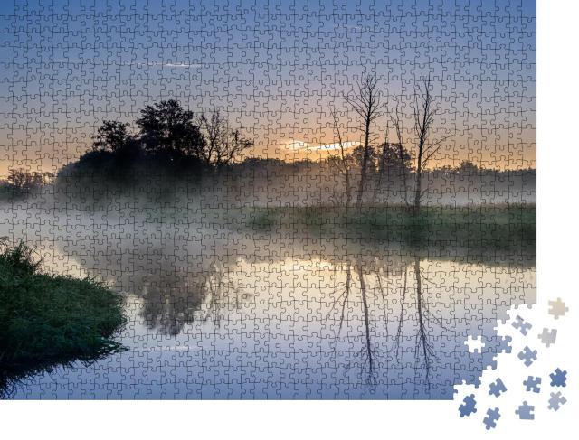 """Puzzle 1000 Teile """"Morgenstille auf der Spree"""""""