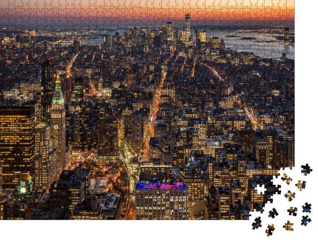 """Puzzle 1000 Teile """"Skyline-Ansicht von Manhattan"""""""