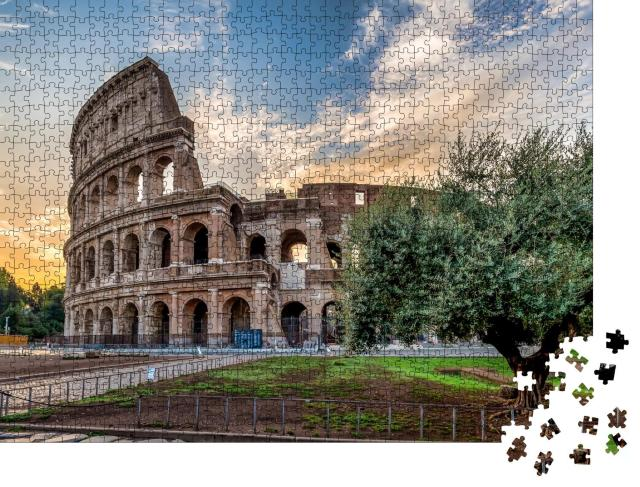 """Puzzle 1000 Teile """"Detail des Kolosseums in Rom, Italien"""""""