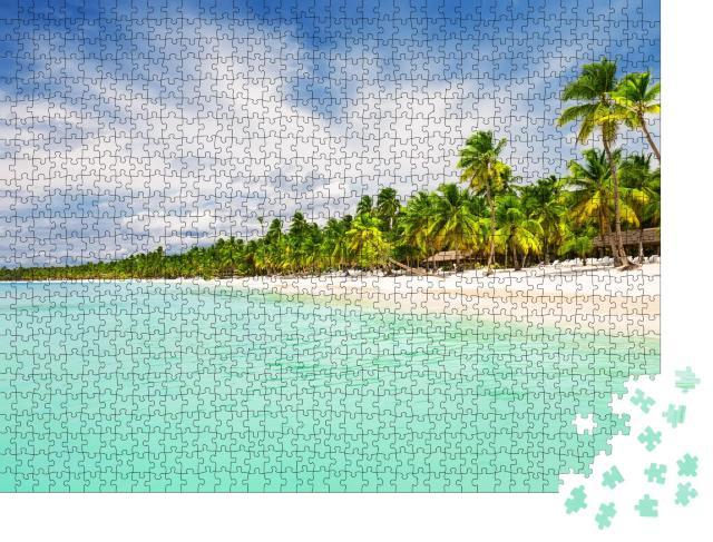 """Puzzle 1000 Teile """"Weißer Sandstrand von Punta Cana, Dominikanische Republik"""""""