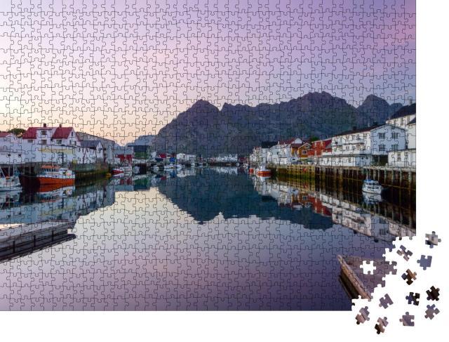 """Puzzle 1000 Teile """"Das Fischerdorf Henningsvaer, Norwegen"""""""