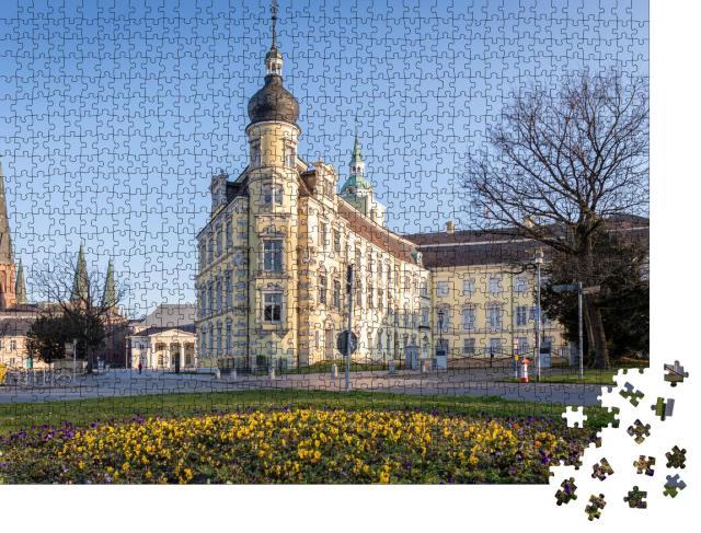 """Puzzle 1000 Teile """"Barockes Schloss auf dem zentralen Platz von Oldenburg, Deutschland"""""""