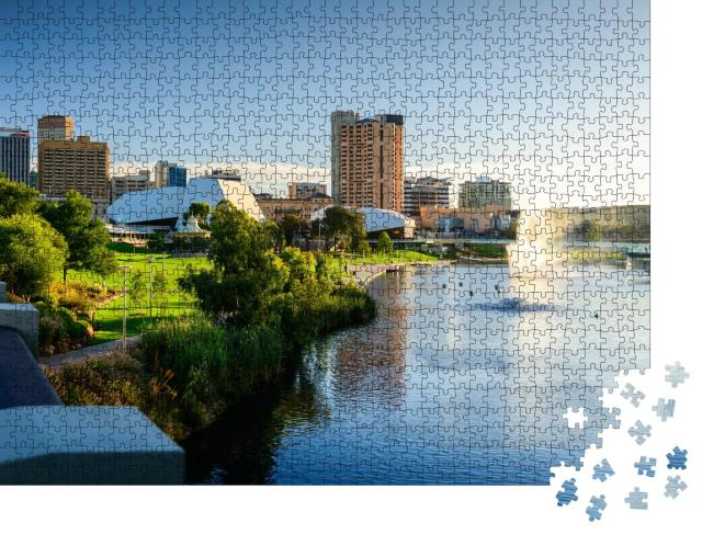 """Puzzle 1000 Teile """"Stadt Adelaide in Australien"""""""
