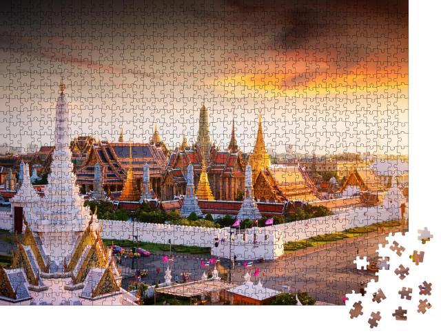 """Puzzle 1000 Teile """"Großer Palast zur Dämmerung in Bangkok, Thailand"""""""