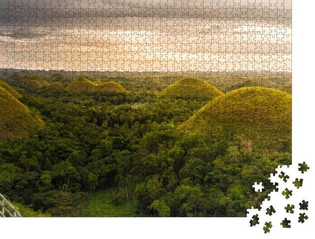 """Puzzle 1000 Teile """"Schokoladenhügel der Provinz Bohol auf den Philippinen"""""""