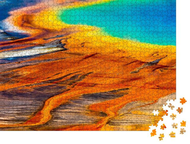 """Puzzle 1000 Teile """"Grand Prismatic Spring in Nahaufnahme, Yellowstone National Park"""""""