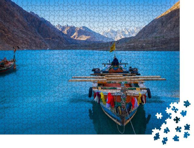 """Puzzle 1000 Teile """"Attabad See im Norden von Pakistan"""""""