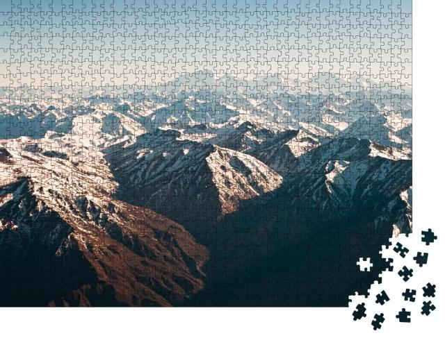 """Puzzle 1000 Teile """"Panoramablick über die Anden, Chile"""""""