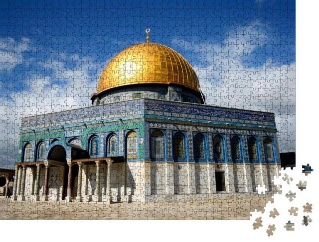 """Puzzle 1000 Teile """"Beeindruckende Felsendom-Moschee in Jerusalem"""""""