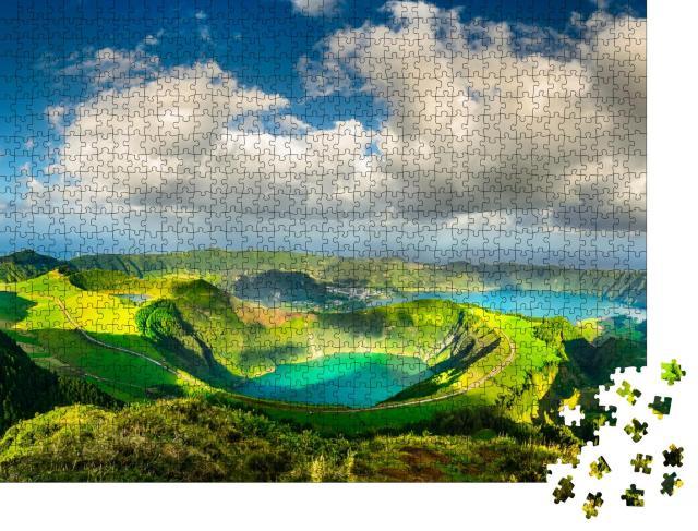 """Puzzle 1000 Teile """"Die Blauen und Grünen Seen, Azoren"""""""