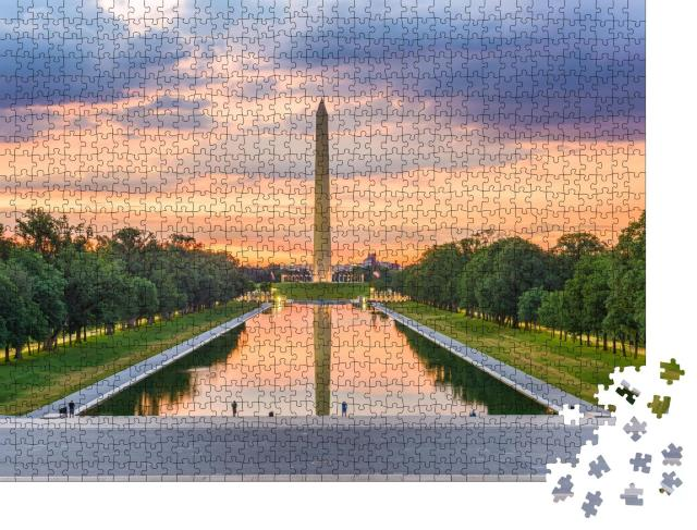 """Puzzle 1000 Teile """"Washington Monument am Reflecting Pool, USA"""""""