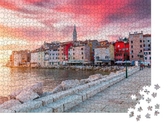 """Puzzle 1000 Teile """"Istrien: schöner Sonnenuntergang über der Adria"""""""