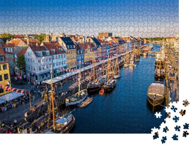 """Puzzle 1000 Teile """"Historisches Zentrum von Nyhavn, Kopenhagen, Dänemark"""""""